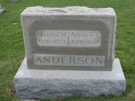 STROM ANDERSON, MATILDA M - Jefferson County, Iowa   MATILDA M STROM ANDERSON