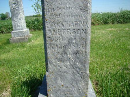 OLSON ANDERSON, EVA KATHARINA - Jefferson County, Iowa   EVA KATHARINA OLSON ANDERSON