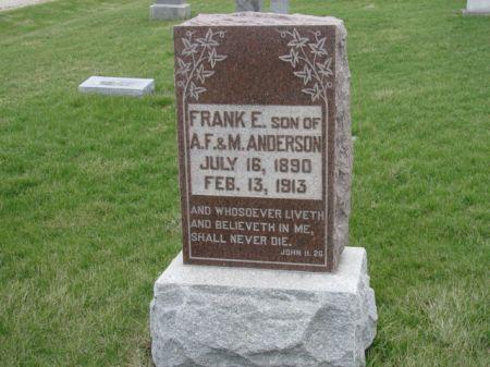 ANDERSON, FRANK ELMER - Jefferson County, Iowa | FRANK ELMER ANDERSON