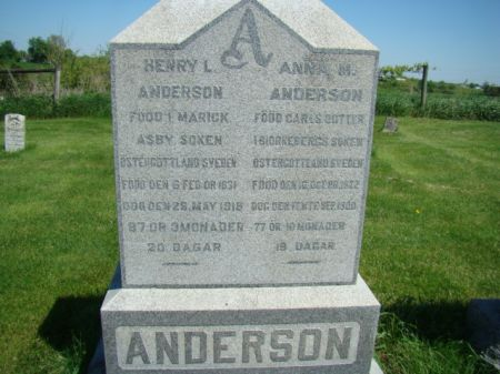 ANDERSON, HENRY L - Jefferson County, Iowa | HENRY L ANDERSON