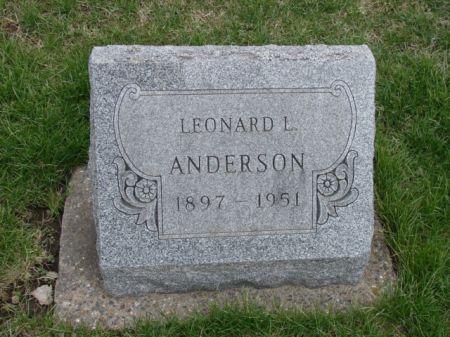 ANDERSON, LEONARD L - Jefferson County, Iowa | LEONARD L ANDERSON