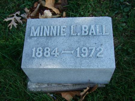 BALL, MINNIE LETITIA - Jefferson County, Iowa | MINNIE LETITIA BALL
