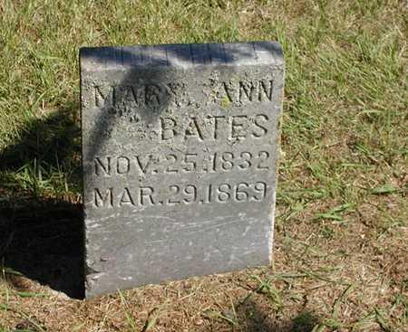 BATES, MARY ANN - Jefferson County, Iowa | MARY ANN BATES