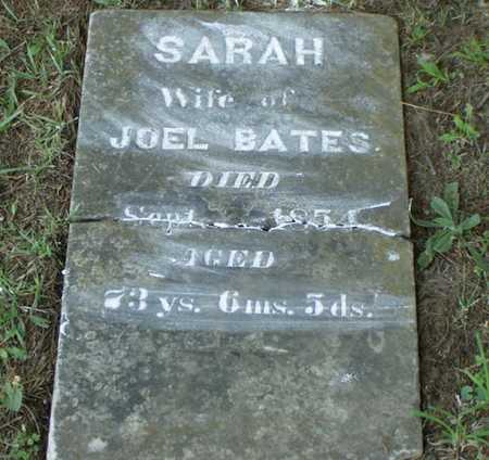 BATES, SARAH - Jefferson County, Iowa | SARAH BATES