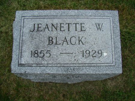 WITHERSPOON BLACK, JEANETTE - Jefferson County, Iowa | JEANETTE WITHERSPOON BLACK