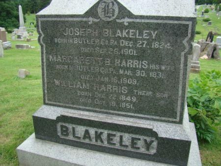 HARRIS BLAKELEY, MARGARETT B - Jefferson County, Iowa   MARGARETT B HARRIS BLAKELEY