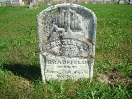 BRADFIELD, CHARLES E - Jefferson County, Iowa   CHARLES E BRADFIELD