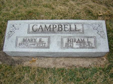 CAMPBELL, MARY ELIZABETH - Jefferson County, Iowa | MARY ELIZABETH CAMPBELL