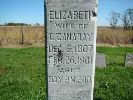 MCCLELLAND CANADAY, ELIZABETH - Jefferson County, Iowa   ELIZABETH MCCLELLAND CANADAY