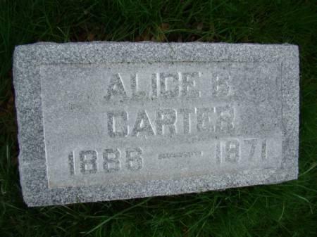 CARTER, ALICE BETTS - Jefferson County, Iowa | ALICE BETTS CARTER