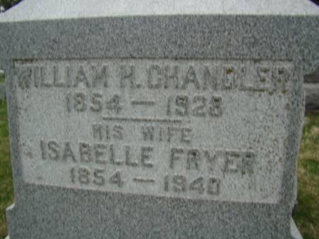 CHANDLER, SARAH ISABELLE - Jefferson County, Iowa   SARAH ISABELLE CHANDLER