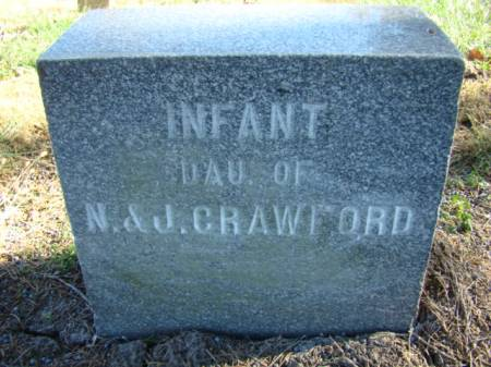 CRAWFORD, INFANT DAUGHTER - Jefferson County, Iowa   INFANT DAUGHTER CRAWFORD