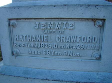 CRAWFORD, JENNIE - Jefferson County, Iowa | JENNIE CRAWFORD