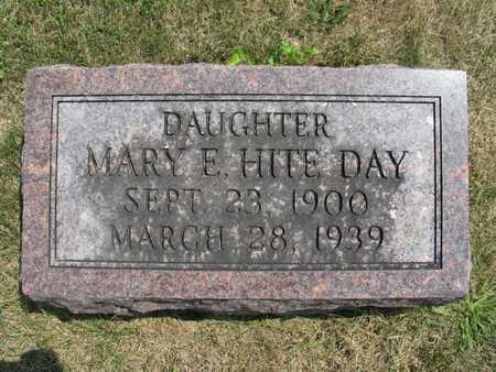 HITE DAY, MARY E - Jefferson County, Iowa | MARY E HITE DAY