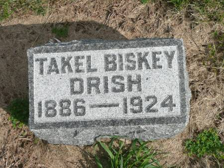 BISKEY DRISH, TAKEL - Jefferson County, Iowa | TAKEL BISKEY DRISH