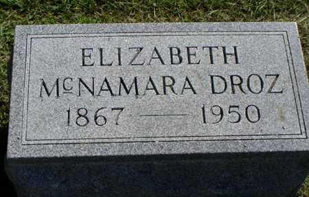 MCNAMARA DROZ, ELIZABETH - Jefferson County, Iowa | ELIZABETH MCNAMARA DROZ