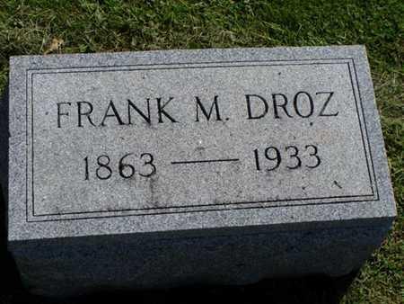 DROZ, FRANK - Jefferson County, Iowa | FRANK DROZ