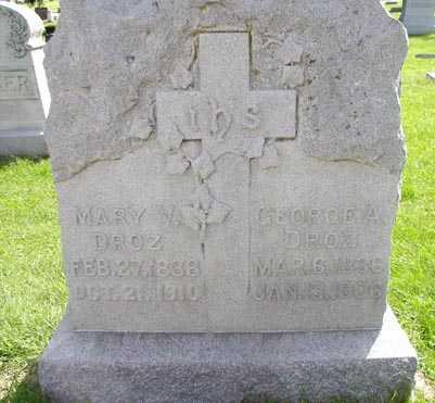 DROZ, MARY - Jefferson County, Iowa | MARY DROZ