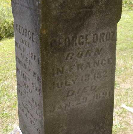 DROZ, GEORGE - Jefferson County, Iowa | GEORGE DROZ