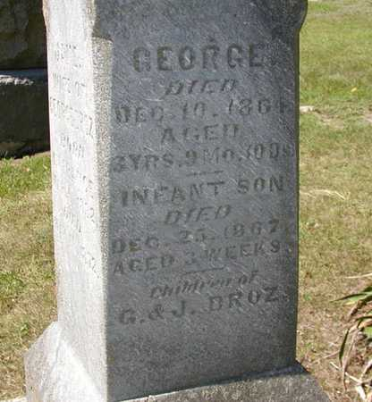 DROZ, GEORGE - Jefferson County, Iowa   GEORGE DROZ