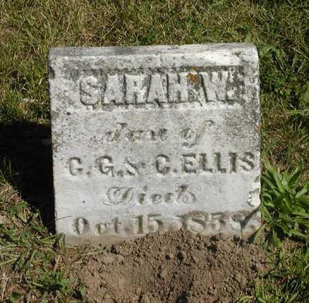 ELLIS, SARAH W. - Jefferson County, Iowa   SARAH W. ELLIS