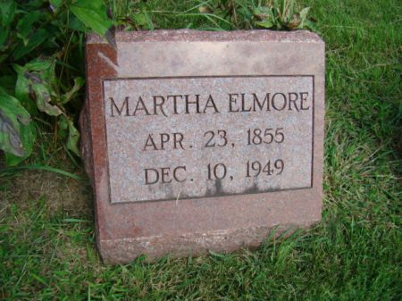 ELMORE ELMORE, MARTHA - Jefferson County, Iowa | MARTHA ELMORE ELMORE