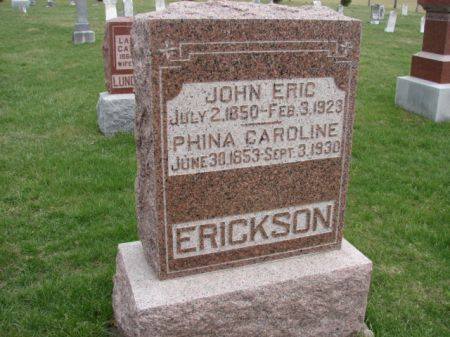ERICKSON, JOHN ERIC - Jefferson County, Iowa | JOHN ERIC ERICKSON