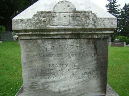 FOOTE, MARY E - Jefferson County, Iowa   MARY E FOOTE