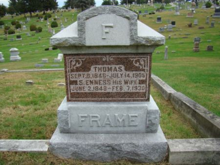 FRAME, THOMAS - Jefferson County, Iowa   THOMAS FRAME