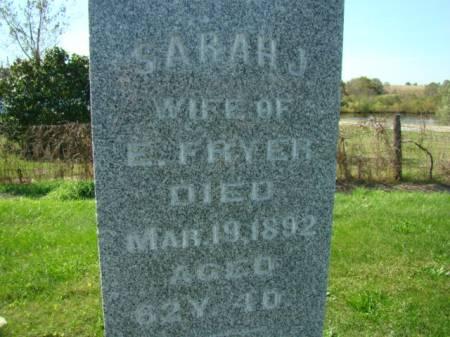 EDWARDS FRYER, SARAH J - Jefferson County, Iowa | SARAH J EDWARDS FRYER