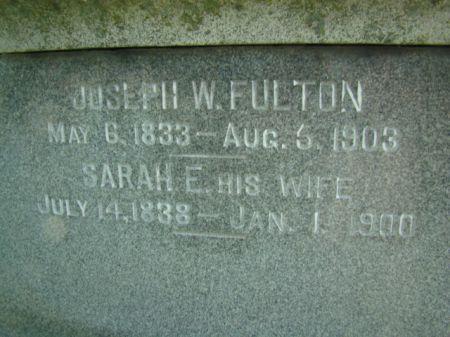 FULTON, JOSEPH W - Jefferson County, Iowa | JOSEPH W FULTON