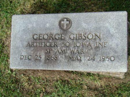 GIBSON, GEORGE W - Jefferson County, Iowa   GEORGE W GIBSON