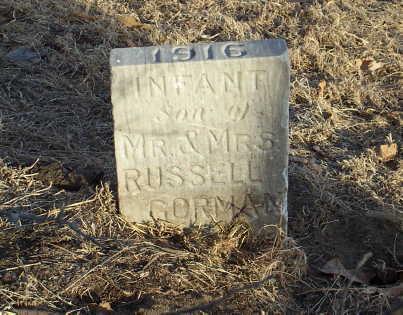 GORMAN, INFANT - Jefferson County, Iowa | INFANT GORMAN