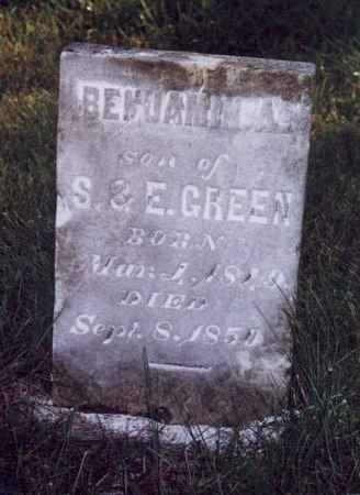GREEN, BENJAMIN A - Jefferson County, Iowa | BENJAMIN A GREEN