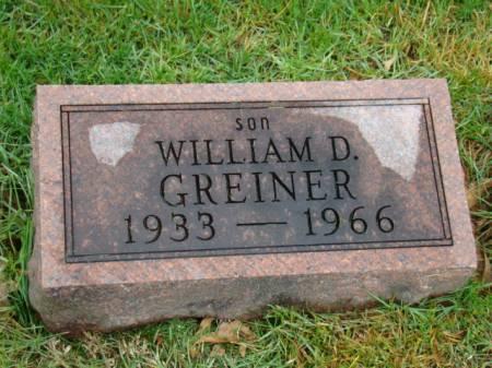 GREINER, WILLIAM D - Jefferson County, Iowa   WILLIAM D GREINER