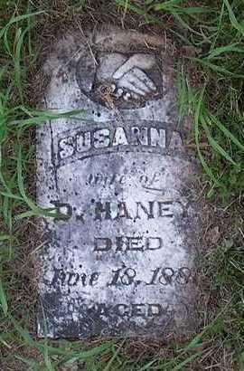 HANEY, SUSANNAH - Jefferson County, Iowa   SUSANNAH HANEY