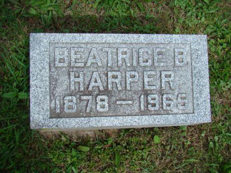 BROWN HARPER, BEATRICE BLANCHE - Jefferson County, Iowa   BEATRICE BLANCHE BROWN HARPER