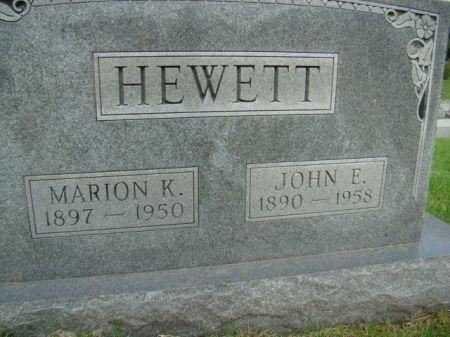 HEWETT, MARION KATHERINE - Jefferson County, Iowa | MARION KATHERINE HEWETT