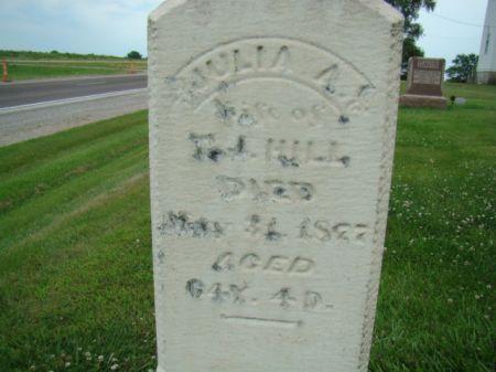 HILL, JULIA A - Jefferson County, Iowa   JULIA A HILL