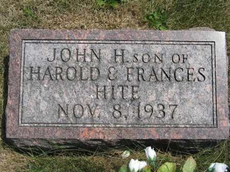 HITE, JOHN H - Jefferson County, Iowa | JOHN H HITE