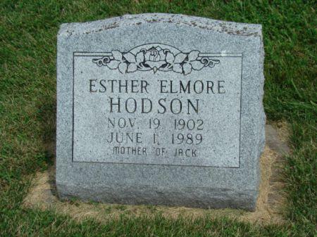 ELMORE HODSON, ESTHER - Jefferson County, Iowa | ESTHER ELMORE HODSON