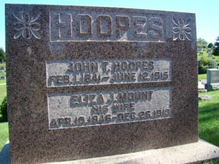 HOOPES, JOHN T - Jefferson County, Iowa | JOHN T HOOPES
