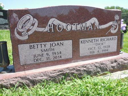 SMITH HOOTMAN, BETTY JOAN - Jefferson County, Iowa   BETTY JOAN SMITH HOOTMAN