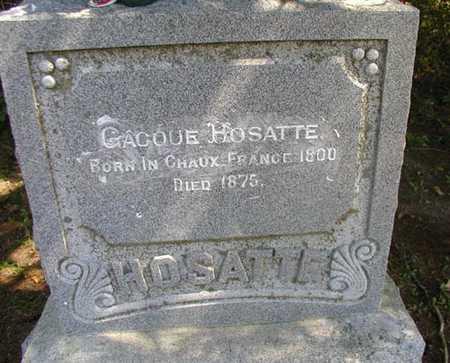 HOSATTE, GACQUE - Jefferson County, Iowa | GACQUE HOSATTE