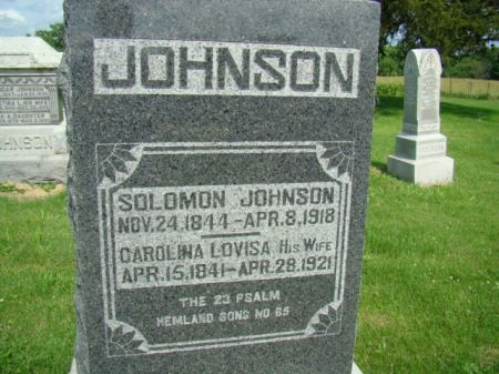 JOHNSON, SOLOMON - Jefferson County, Iowa | SOLOMON JOHNSON