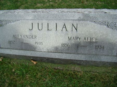 JULIAN, MARY ALICE - Jefferson County, Iowa   MARY ALICE JULIAN