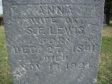 ANDERSON LEWIS, ANNA - Jefferson County, Iowa   ANNA ANDERSON LEWIS
