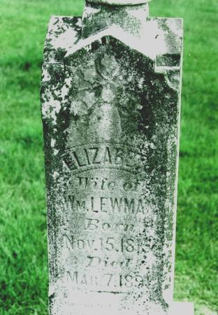 LEWMAN, ELIZABETH - Jefferson County, Iowa | ELIZABETH LEWMAN