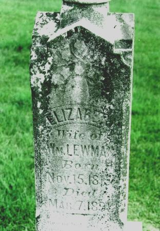 OSBORN LEWMAN, ELIZABETH - Jefferson County, Iowa | ELIZABETH OSBORN LEWMAN