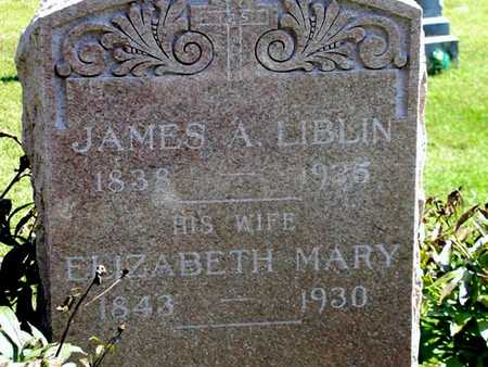 LIBLIN, ELIZABETH MARY - Jefferson County, Iowa | ELIZABETH MARY LIBLIN